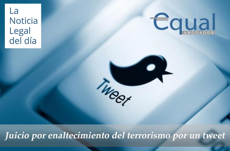 Juicio por enaltecimiento del terrorismo por un tweet